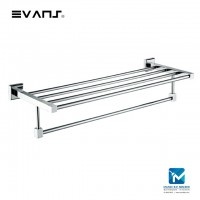 Evans S/Steel Double Bathtowel Shelf (Chrome) 10215