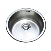 Bareno S/S Round U/Mount Sink 1mm thick 1011D-1