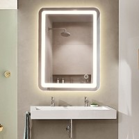 Evans LED Lighted Bathroom Mirror with Touch Sensor | Rectangle Vertical Mirror