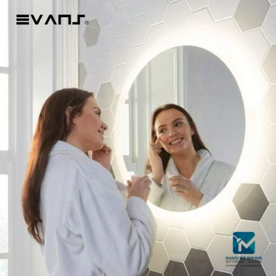 Evans LED Round Lighted Bathroom Mirror with Touch Sensor 60cm