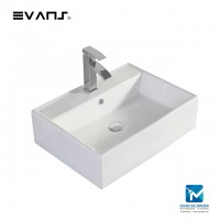 Evans Bathroom Countertop Rectangle Ceramic Basin