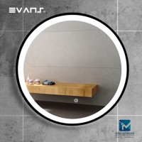 Evans LED Lighted Round Bathroom Mirror with Touch Sensor 80cm