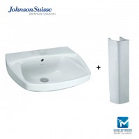 Johnson Suisse Monte Carlo Wall Hung Basin with Pedestal (klang valley/pick up)