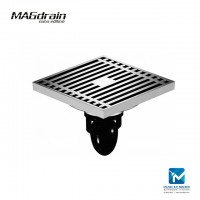 Magdrain Solid Brass Floor Trap Stainless Steel Floor Drain 4 inch F01Q5-G
