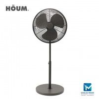 "Houm S Series 3 Speed Setting Table Fan 16"" Walnut Color"