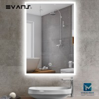 Evans Touch Sensor LED Light Bathroom /  Wall Hang Mirror Vertical or Horizontal